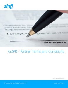Partner Terms and Conditions for GDPR Compliance