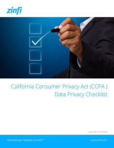 Consumer Privacy Act Data Privacy Checklist