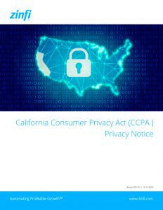 Consumer Privacy Act Privacy Notice