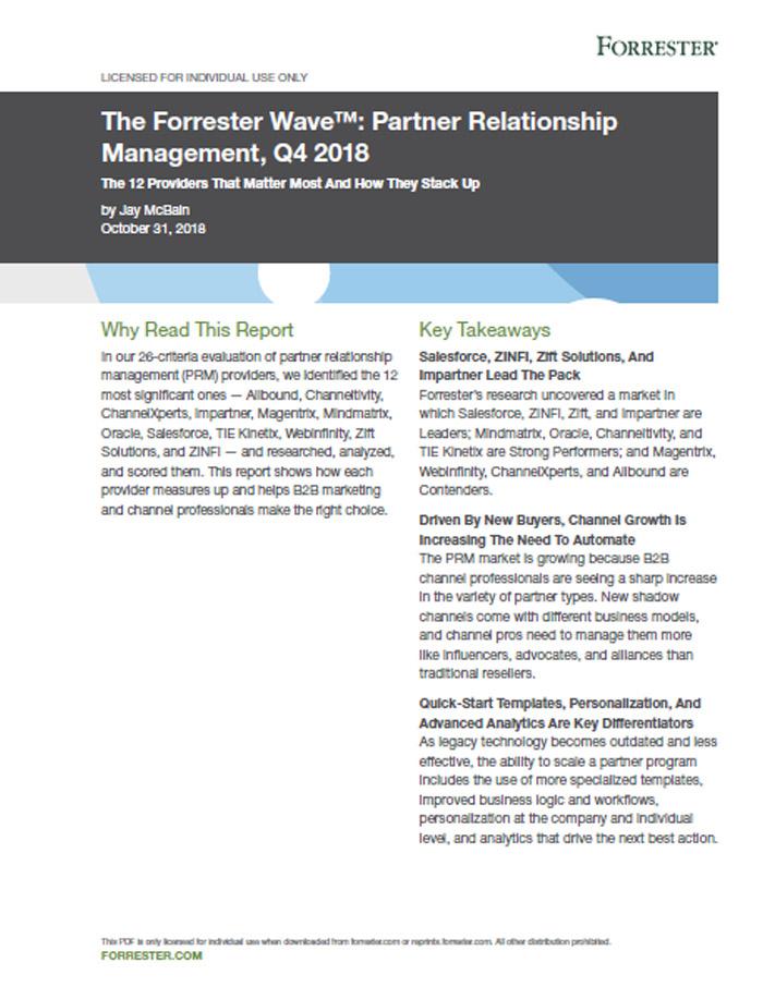 Partner Relationship Management Forrester Wave 2018