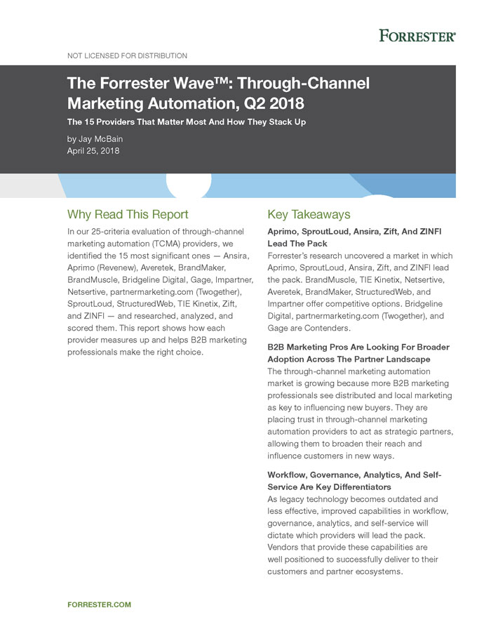 Through Channel Marketing Automation Forrester-wave 2018