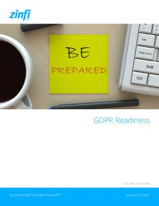 ZINFI and GDPR Readiness