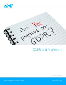 GDPR and Marketers