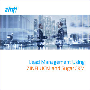 Lead Management Using ZINFI UCM and SugarCRM